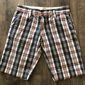 Roxy Plaid Bermuda Shorts